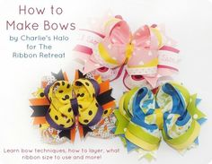 How to Make Bows: Twisted Boutique, Pinwheel, Surround Loops - and how to stack them! {The Ribbon Retreat Blog}