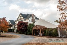 Oaks at Salem weddig venue. Apex, NC. Raleigh weddings. Outdoor wedding ceremony, tented reception. Neil Boyd Photography.