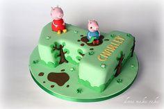George peppa pig cake