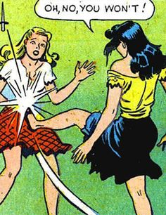 Cunt-Punt for the win! Old Comics, Comics Girls, Vintage Comics, Vintage Pop Art, Retro Art, Comic Books Art, Comic Art, Book Art, Art Jokes