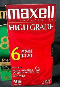 Lot of 3 MAXELL Premium Grade 8 hours Blank VHS Tapes T-160 NEW NIP SEALED +2