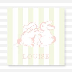 Striped Lovely Bunny Calling Card