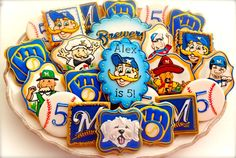 Milwaukee Brewers Cookies     By Compassionate Cake