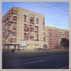 Block style housing in the neighborhood