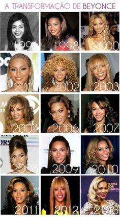 [ Pinterest : @ndeyepins ] Beyoncé au fil du temps.
