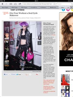 Soul Cycle on Elle UK site