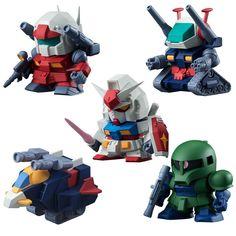 Build Model Gundam vol.3 Set of 5 Eraser Figure BANDAI CANDY TOY /PSL