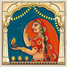 Hinduism History, Indian Folk Art, Perspective Drawing, Madhubani Painting, Festival Lights, Rangoli Designs, Types Of Art, Diwali, Top Artists