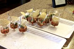 Salsa cups party style Luscombe Farms Party Fashion, Farms, Salsa, Cups, Food, Style, Swag, Homesteads, Mugs