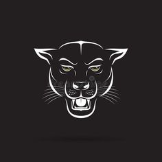 Vector of an angry panther head on black background. Vector of an angry panther head on black background. Panther Cat, Panther Logo, Dog Vector, Free Vector Art, Black Panthers, Black Panther Drawing, Background Drawing, Black Jaguar, Animal Drawings