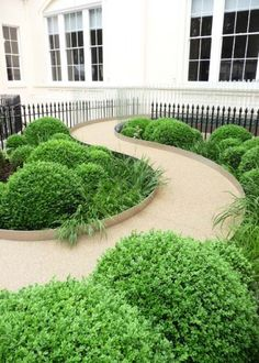 Andy Sturgeon Landscape and Garden Design Front Gardens, Formal Gardens, Small Gardens, Outdoor Gardens, Landscape Architecture, Landscape Design, Garden Design, Porche, Garden Spaces