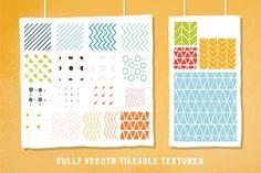 Retro hand-draw patterns (ai + ps) by Vítek Prchal on Creative Market