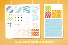 Retro hand-draw patterns (ai + ps) by Vítek Prchal on Creative Market