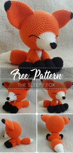 The Sleepy Fox Pattern Free The Sleepy Fox Pattern Free Pattern Crochet Freecrochetpattern Crochetamd Crochetlove Diy Tutorialcrochet Videocrochet Pattern Crochet Fox Pattern Free, Crochet Gratis, Crochet Amigurumi Free Patterns, Crochet Animal Patterns, Stuffed Animal Patterns, Fox Amigurumi Pattern, Free Crochet, Crochet Animal Amigurumi, Easy Crochet Animals