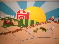 Farm Mural in progress