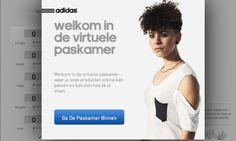 Adidas bouwt virtuele paskamer aan in de webshop. Door je maten in te voeren kan er een realistisch beeld worden gegeven van de pasvorm. Adidas