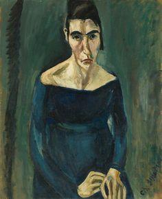Chaïm Soutine (Russian, 1893-1943), La Folle, 1918. Oil on canvas, 73 x 60 cm.