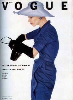 isa Fonssagrives wearing dress by Adele Simpson. Cover photo by Irving Penn, Vogue, May 1, 1952.