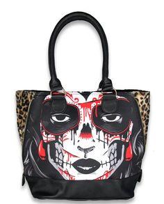 Liquor Brand Damen KARMA Handtasche/Bags.Tattoo,Pinup,Biker Clothing Style