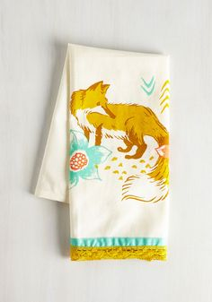 Home & Gifts - All Good in the Woods Tea Towel in Fox