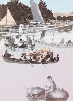 World Tour: Chicago, Boating Silkscreen Print by Sir Peter Blake