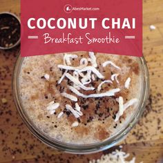 Give you morning an extra boost with a coconut-infused chai-spiced breakfast smoothie from Tealish.