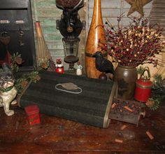 Primitive Vtg Antique Buggy Sleigh Carriage Foot Rest Warmer Clark Coal Heater #NaivePrimitive