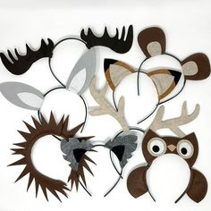 Woodland wild animals nature theme forest creature ears headband birthday party favors supplies costume invitation camping decor woods hat