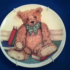 TEDDY BEAR PLATE FROM SOUTH AFRICA BY TAURUS CERMICS COLLECTIBLE