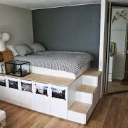 IKEA hackers blog. Lots of great DIY projects. Love this bedroom!