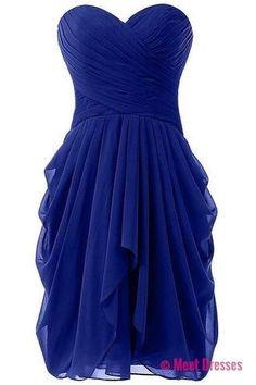 Charming Prom Dress,Chiffon Prom Dress,Royal Blue Prom Dress,Short Prom Dress PD20182310