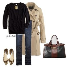 """""""Untitled #301"""" by pchick60 on Polyvore featuring J.Crew, American Eagle Outfitters, Steve Madden and FOSSIL"""