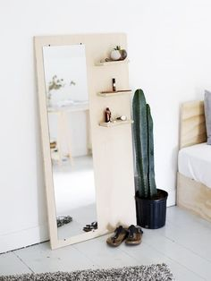 Plywood Floor Mirror | Easy DIY Wood Projects For Small Spaces | DIY Projects