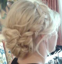 low and loose with big braid