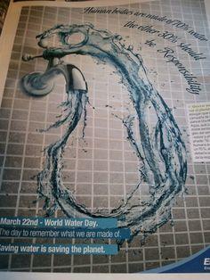 World Water Day Advertisemend World Water Day, Advertising