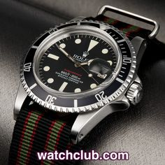 "Rolex Submariner Date - Rare ""Red Writing"" REF: 1680 