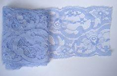 Galon dentelle fleurs bleu pastel 1m : Rubans par le-petit-papillon-rouge