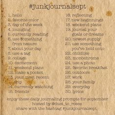 """473 gilla-markeringar, 67 kommentarer - Cassie (@dust_to_roses) på Instagram: """"It's almost that time! #junkjournalsept 2020! I'm so excited to be able to bring you guys a…"""" Reading Goals, Journal Prompts, Art Journals, Weekend Plans, Memory Books, Smash Book, Printable Coloring Pages, New Beginnings, Journal Inspiration"""