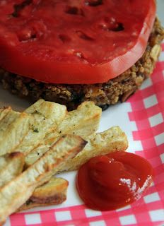 Jo and Sue: Quinoa Burgers and Spiced Sweet Potato Fries