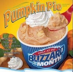 CopyCat DQ Pumpkin Pie Blizzard Recipe and like OMG! get some yourself some pawtastic adorable cat shirts, cat socks, and other cat apparel by tapping the pin! Pumpkin Pie Blizzard Recipe, Pumpkin Pie Mix, Pumpkin Pie Recipes, Pumpkin Dessert, Fall Recipes, Pumpkin Spice, Canned Pumpkin, Cat Pumpkin, Holiday Recipes