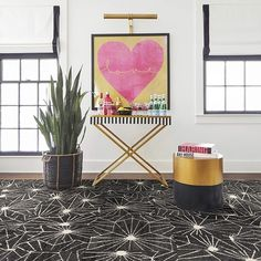 Skyfall: Retro Night Sky Patterned Area Rug & Carpet Tiles from FLOR