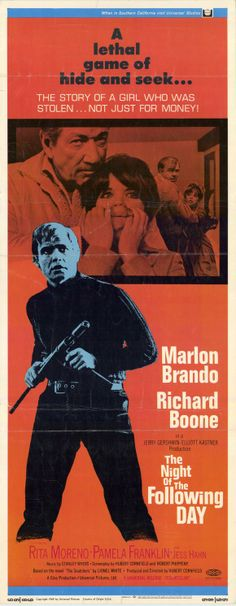 A noite do dia seguinte (1968) Cinema Posters, Movie Posters, Rita Moreno, Drive In Movie Theater, Santa Fe Springs, Movie Dates, Marlon Brando, Old Movies, Hanging Out