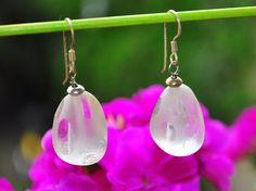 earrings in hyaline quartz 925 pair orecchini in quarzo ialino argento 925 coppia di Oxidex su Etsy Euro30