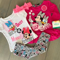 Disney Clothes, Disney Outfits, Mouse Logo, Minnie Mouse, Mouse Outfit, Stretchy Headbands, Long Sleeve Tunic, Toddler Outfits, 12 Months