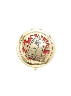 Disney Beauty And The Beast Rose Beauty Is Found Within Compact Mirror,