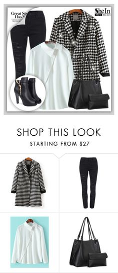 """Shein 10."" by adelisamujkic ❤ liked on Polyvore featuring women's clothing, women's fashion, women, female, woman, misses and juniors"