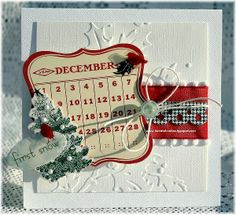A Project by danni reid from our Cardmaking Gallery originally submitted… Christmas Card Crafts, Christmas Scrapbook, Holiday Cards, Handmade Christmas, Merry Christmas, Christmas Calendar, Xmas, Hand Made Greeting Cards, Card Tricks