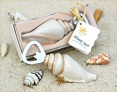 Beach wedding favors feature This Shore Memories sea shell bottle opener makes a unique favor for guests. The bottle opener may be used for any beach special event including birthday party favors, bridal showers favors and wedding favors, etc. Wedding Favors And Gifts, Beach Wedding Favors, Personalized Wedding Favors, Wedding Ideas, Beach Weddings, Seashell Wedding, Gift Wedding, Wedding Reception, Wedding Inspiration