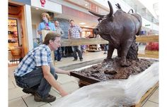 No bull! This kicking creation at airport is all chocolate