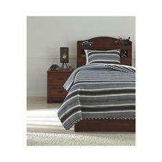 Halanton Twin Over Full Bunk Bed W Storage Ashley Furniture
